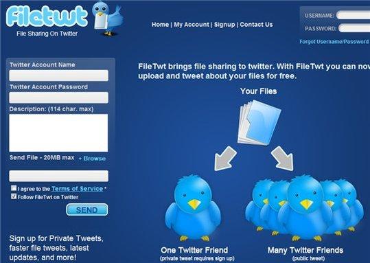 FileTwt - Partage de fichiers via Twitter