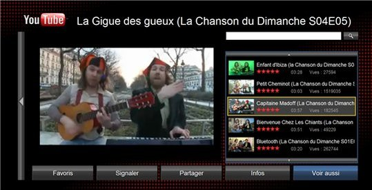 Youtube XL - Youtube sur un écran de TV