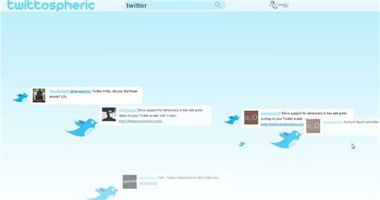 Twittospheric - Visualisation de Twit en temps réel