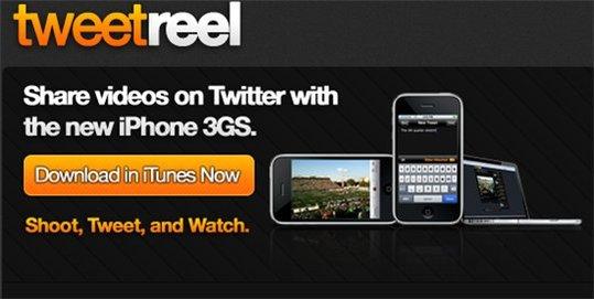 TweetReel - Partage de video sur Twitter pour l'iPhone 3 GS