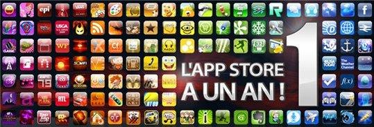 L'App Store fête sa première bougie de téléchargement