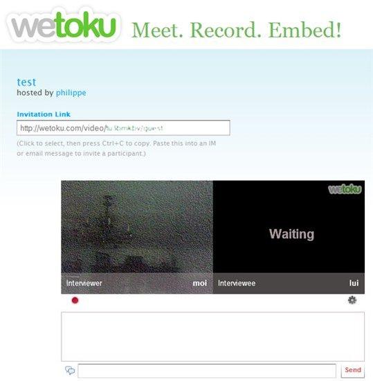Wetoku - Réaliser des interviews filmées en 2 clics