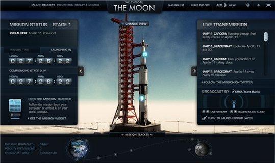Reconstitution de la mission Apollo 11 sur le Web à partir de jeudi 16 juillet