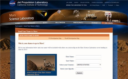 Partez sur MARS avec la NASA