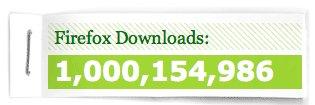 Firefox - 1 Millard de téléchargements