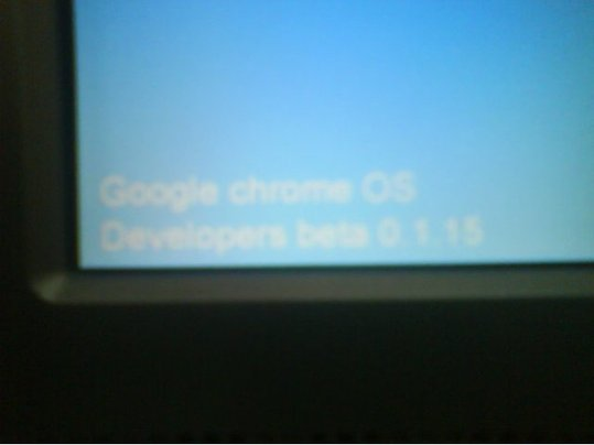 Des screens de Google Chrome OS ?