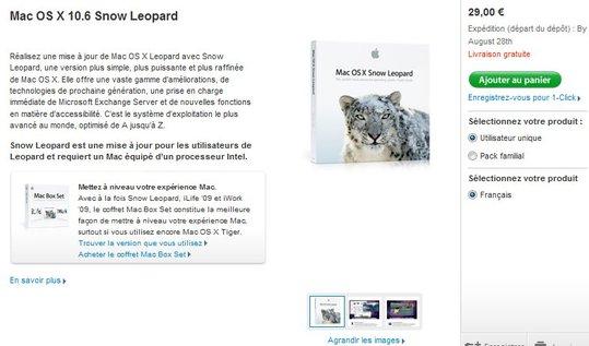 MAC OS X 10.6 Snow Leopard en pré commande ( livraison le 28 aout )