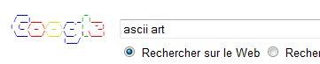 Google fait de l'humour avec le code Ascii