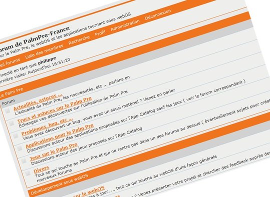 PalmPre-France ouvre son Forum