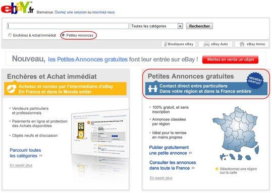 eBay lance les Petites Annonces Gratuites