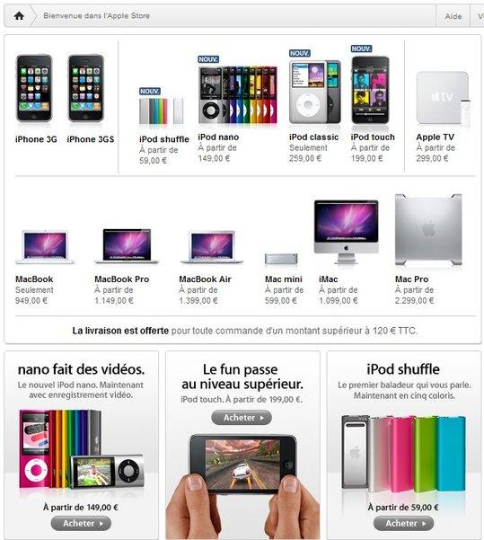 Apple Store ouvert avec les nouveautés