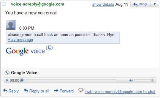 Gmail Labs - Ecoutez vos messages Google Voice dans Gmail