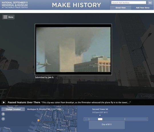 Make History - Mémorial Web pour le 11 septembre 2001