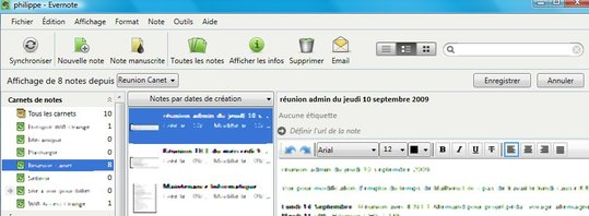 Evernote en français en version Beta