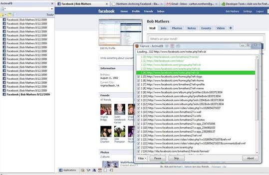 Archive Facebook - Faites une copie de sauvegarde de votre profil