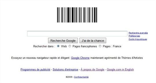 C'est la fête du code barre chez Google aujourd'hui !
