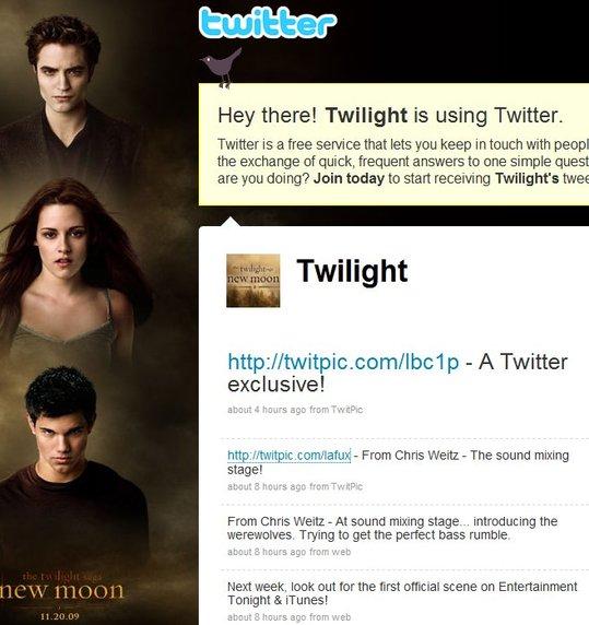 La Twilight mania arrive sur Twitter
