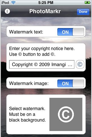 PhotoMarkr - Marquer vos photos sur l'iPhone