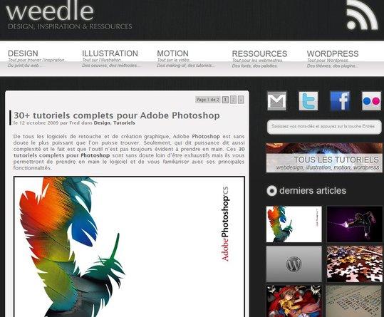 Weedle - Un nouveau blog spécial Design et illustrations