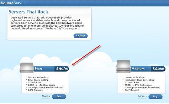 AccessOWeb et SquareServ vous offre 1 serveur pendant 1 an
