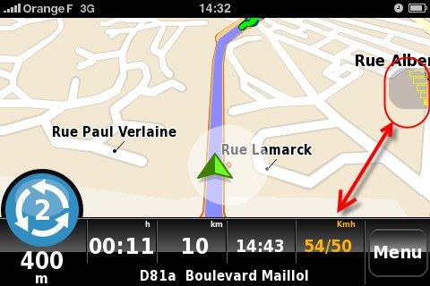 nDrive pour iPhone - test de l'application GPS