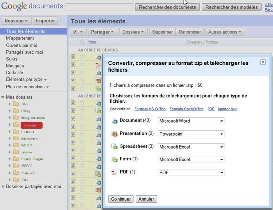 Archivez vos documents Google Documents