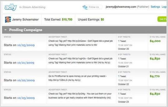 15000 $ de gains grace à Twitter en 1 mois