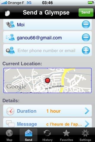 Glympse - Un très bon moyen de transmettre sa position géographique