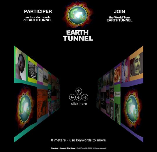 Earth Tunnel - Le tour du monde dans un tunnel d'images