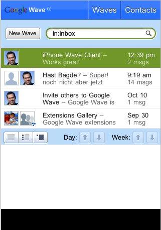 Waveboard - Google Wave sur iPhone