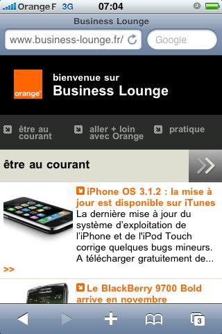 Orange Business annonce Business Lounge sur smartphones, PDA