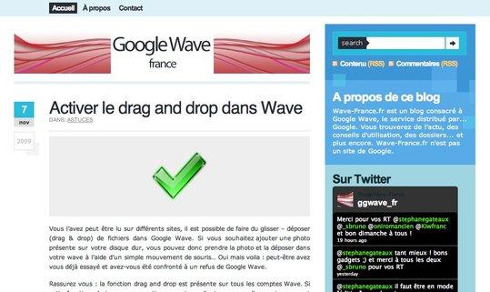(coup de pouce) Google Wave France - Le blog qui vous explique tout sur Google Wave