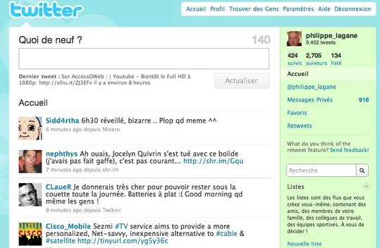 Twitter en français - Les dernières retouches