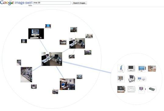 Google Image Swirl - Expérimentation dans la recherche d'images