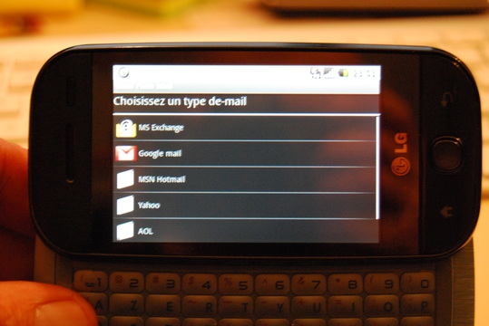 LG GW620 Android - Le test