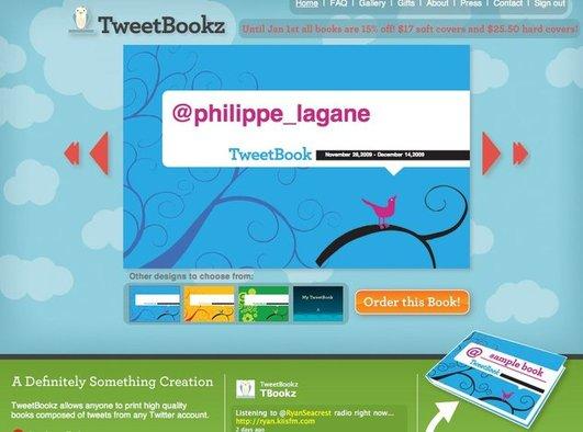 TweetBookz - Faites de vos tweet un livre