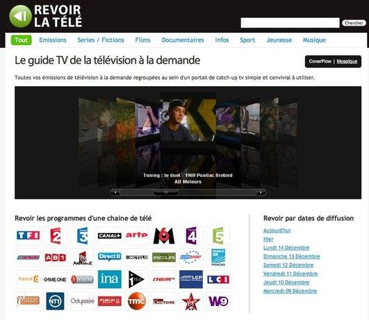 Revoir la Télé - Le guide TV de la télévision à la demande