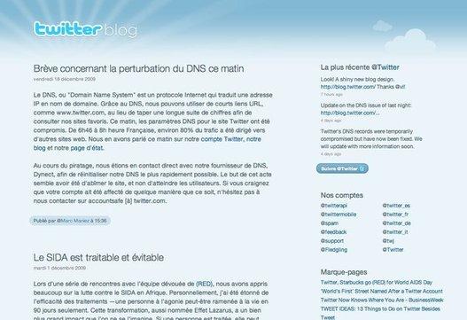 Twitter - Son blog en français, son design, et ...