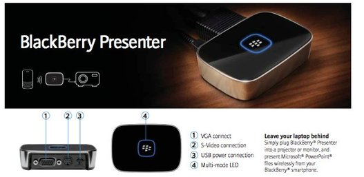 (CES 2010) Blackberry Presenter - Projeter des Power Point via Bluetooth depuis un Blackberry