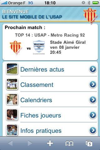 L'USAP arrive sur iPhone et Android