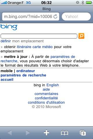 Bing et Bing Maps bientôt sur iPhone à la place de Google ?