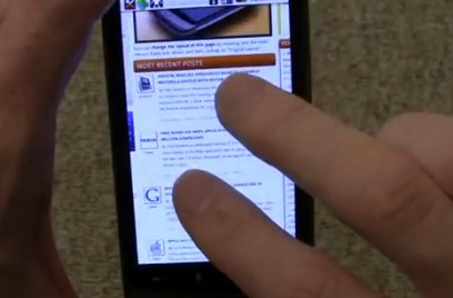 Le Multi touch du Nexus One est très fluide ( démo video )