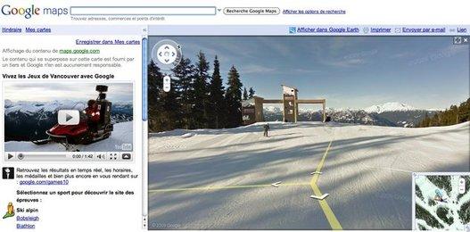 Google Street View Vancouver - découvrez les pistes des JO