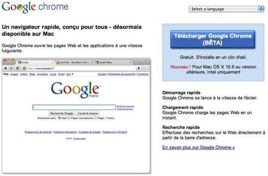 Google Chrome pour MAC - une nouvelle version + les extensions + ...