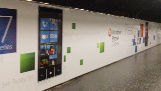 Le Windows Phone 7 Series a envahi le métro de Barcelone