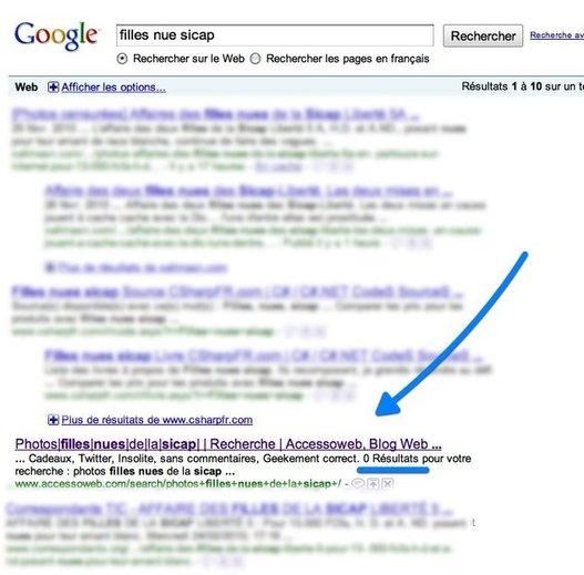 Google met le bordel sur AccessOWeb