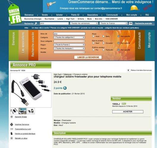 GreenCommerce - L'eBay de l'Eco Citoyen