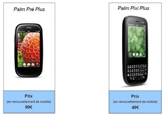 Le Palm Pre Plus sera à 99 € chez SFR en renouvellement