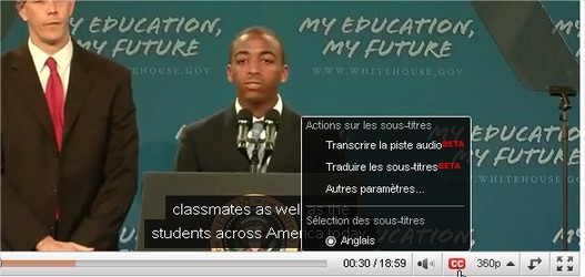 Youtube - La traduction du sous titrage prend forme