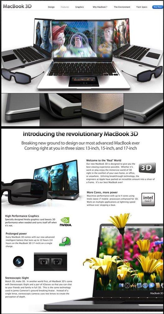 Apple Macbook 3D - un concept surréaliste ?